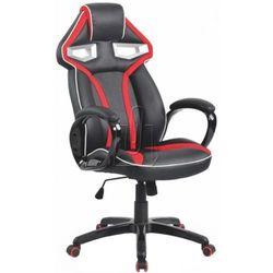 Fotel gabinetowy honor czarno-czerwony marki Halmar