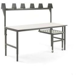 Stół roboczy cargo, z wysuwaną półką, 2000x750 mm, nadstawka marki Aj produkty