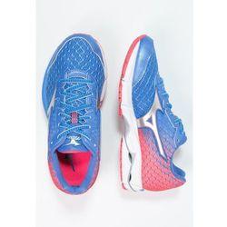 Mizuno WAVE RIDER 19 Obuwie do biegania treningowe palace blue/silver/diva pink od Zalando.pl
