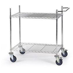 Wózek stołowy z kratą drucianą, z półkami, dł. x szer. x wys. 910x610x1025 mm, 2 marki Unbekannt