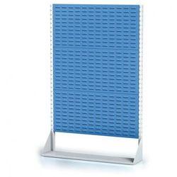 Perforowany stojak z panelem na pojemniki, 3 piętra, podstawowe pole marki B2b partner