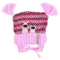 Czapka z pomponami przybysz - różowy ||kolorowy marki Raster - producent czapek