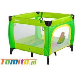 Łóżeczko kojec dla dziecka quadra green marki Caretero