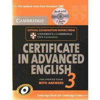 Cambridge Certificate in Advanced English 3 Self-Study Pack (Student's Book with Answers and Audio CDs (2)) (9