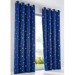 Zasłona zaciemniająca z nadrukiem w gwiazdy (1 szt.) intensywny niebieski marki Bonprix