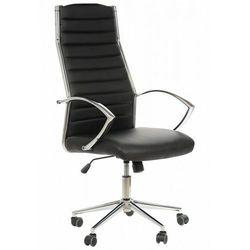 Fotel gabinetowy ne-637 czarny - biurowy, obrotowy - krzesło obrotowe marki Stema - ne