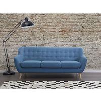 Beliani Sofa niebieska - kanapa - sofa tapicerowana - motala