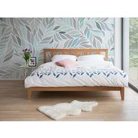 Łóżko jasnobrązowe - 180x200 cm - ze stelażem - drewniane - CALAIS
