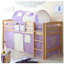 Ticaa łóżko piętrowe timmy r buk, naturalny - fioletowy/beżowy marki Ticaa kindermöbel