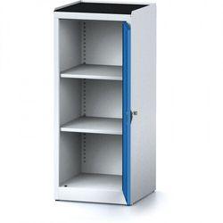 B2b partner Szafa warsztatowa mechanic, 1170 x 490 x 500 mm, 2 półki, niebieskie drzwi
