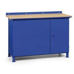 B2b partner Stół warsztatowy z metalowymi szufladami