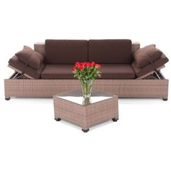SOFA TECHNORATTANOWA MILANO BROWN DARK 2 W 1 z kategorii meble ogrodowe