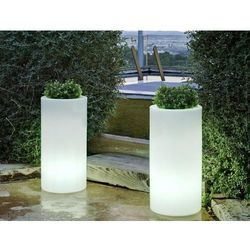 NEW GARDEN donica PALMA 70 C biała - LED (5900000047515)