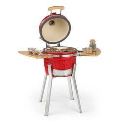 princesize pro, grill kamado, 33 cm (13 cali), termometr, części boczne, czerwony marki Klarstein