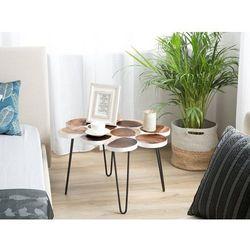 Stolik pomocniczy drewniany biały TIJUANA (4260624119984)
