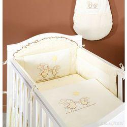 MAMO-TATO pościel 2-el Wesołe zajączki ecru do łóżeczka 70x140cm z kategorii Komplety pościeli dla dzieci