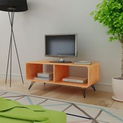 vidaXL Szafka pod RTV 90x39x38,5 cm z drewna, brązowa (8718475969334)