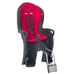 Hamax Fotelik rowerowy kiss czarny, czerwona wyściółka (7029775510432)