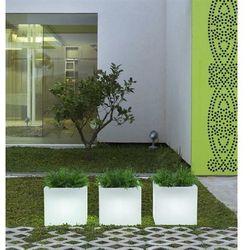 New garden donica narciso 50 solar biała - led, sterowana pilotem (5900000047225)