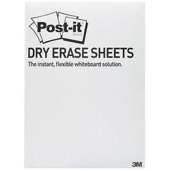 Post-it-3m Suchościeralna folia w arkuszach post-it dry erase (defpackl-eu) 28x39cm 15ark. białe