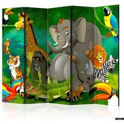 Selsey parawan 5-częściowy - kolorowe safari