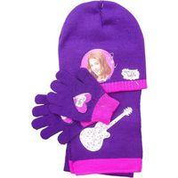 Komplet- czapka, szalik i rękawiczki z postaciami z filmu Violetta