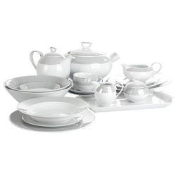 Ćmielów yvonne linea platynowa serwis obiadowy i kawowy 85/12 e520 marki Ćmielów / yvonne