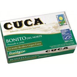 Cuca (rybołówstwo zrównoważone) Tuńczyk biały bonito w bio oliwie z oliwek 112 g - cuca