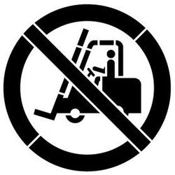 Szablon z tworzywa znak zakaz ruchu urządzeń do transportu poziomego gp006 - 85x85 cm marki Szabloneria