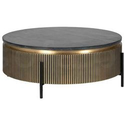 RICHMOND stolik kawowy IRONVILLE 90 czarny marmur