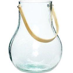 Hübsch Wazon zielony szklany z uchwytem