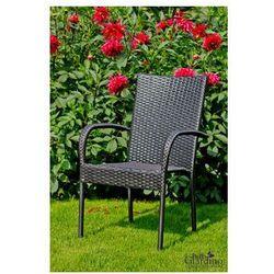 """Krzesło ogrodowe """"sottile""""- czarny marki Pozostali"""