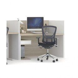 B2b partner Zestaw stołu roboczego future ze ściankami działowymi, biały/dąb