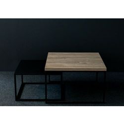 Zestaw stolików kawowych loft DUO2 Dąb Brunico, DUO2_6580_CDB36