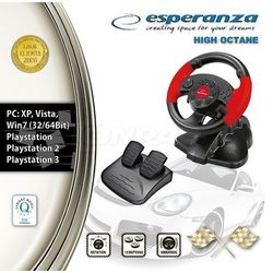 Kierownica Esperanza High Octane do PC PS1 PS2 PS3 z kategorii kierownice do gier
