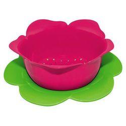 Zak! designs Durszlak z podstawką duży zak! różowo- zielony, kategoria: durszlaki, cedzaki i sitka
