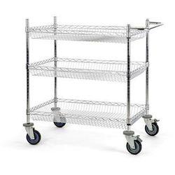 Wózek stołowy z kratą drucianą, z koszami, dł. x szer. x wys. 910x610x1025 mm, 3