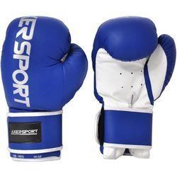 Rękawice bokserskie  a1332 niebiesko-biały (14 oz) wyprodukowany przez Axer sport