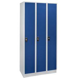 Szafa na garderobę, wysokość przegrody 1700 mm,3 przedziały o szer. 300 mm