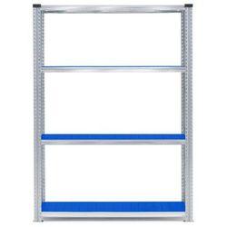 Moduł podstawowy regału 1200x600x1972mm Kolor półek: niebieski 180kg/półka