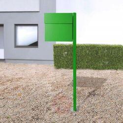 Absolut/ radius Stojąca skrzynka na listy letterman iv, zielona