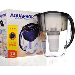 Dzbanek filtrujący AQUAPHOR Prestige + 3 wkłady B100-5 Czarny (5901549313130)