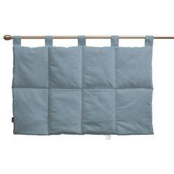 wezgłowie na szelkach, krateczka turkusowo-biała, 90 x 67 cm, wyprzedaż do -30% marki Dekoria