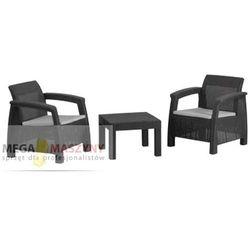 Hecht zestaw mebli ogrodowych stół + 2 fotele panay set