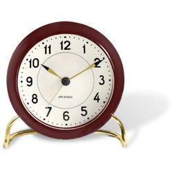 Zegar stołowy arne jacobsen station ciemnoczerwono-biały marki Rosendahl