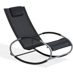 Krzesło ogrodowe czarne tekstylne bujane CAMPO (4260586353570)