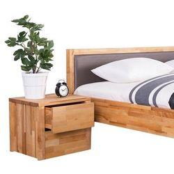 Drewniana szafka nocna z 2 szufladami carris arras marki Beliani