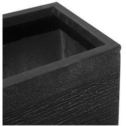 Doniczka czarna kwadratowa 50 x 50 x 46 cm PAROS