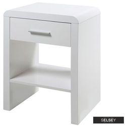 SELSEY Szafka nocna Sulafat biała z jedną szufladą (5903025472621)