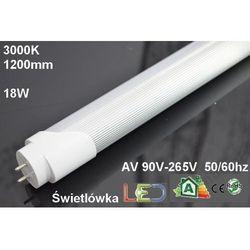 ŚWIETLÓWKA LED T8 18W=36W 120cm CIEPŁA wyprzedaż - produkt dostępny w ledmax.sklep.pl